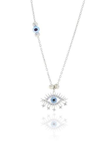 Söğütlü Silver Gümüş Rodyumlu Doricalı Lareyn Kolye Gümüş
